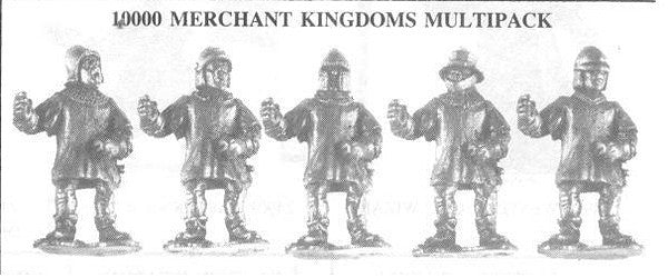 10000 Merchant Kingdoms Soldiers (5 Different Miniatures)