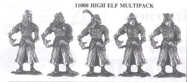 11000 High Elves (5 Different Miniatures)