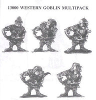 13000 Western Goblins (5 Different Miniatures)