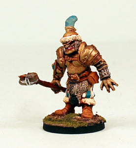 26000 Ogre Hero-with Stone Axe-28mm Scale Pro-Painted Fantasy Warlord Miniature-Ready to Ship