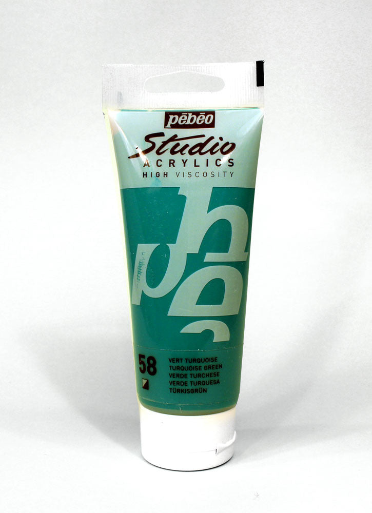 831058 TURQUOISE GREEN 100ML ACRYLIC PAINT