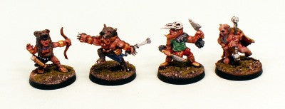 28mm Ganesha Games Dwarf Pelt Warriors 2-Pro-Painted 4 Miniatures: Ready to Ship