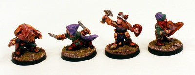 28mm Ganesha Games Dwarf Characters 2-Pro-Painted 4 Miniatures:Ready to Ship