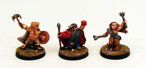 28mm Ganesha Games Dwarves-Characters-Pro-Painted 3 Miniatures:Ready to Ship