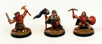 28mm Ganesha Games Dwarf Warriors 1-Pro-Painted 3 Miniatures: Ready Ship
