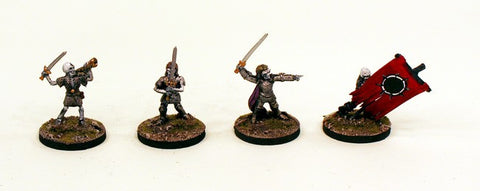 FL12 Men at Arms-Pro-Painted set of 5 Miniatures (Set 2)