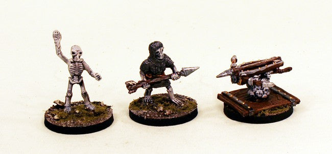 28mm Skeleton Artillery (VNT23) Pro-Painted Undead 3 Miniatures Set-Ready to Ship