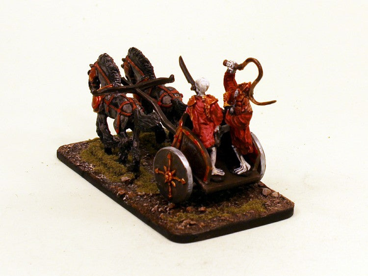 28mm Skeleton Chariot (VNT30) Pro-Painted Undead 5 Pieces Set