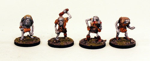28mm Undead Orcs (VNT24) Pro-Painted 4 Miniatures Set-30mm Resin Bases