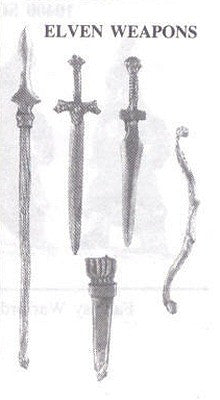 30005 Elven Weapons (5 pieces)
