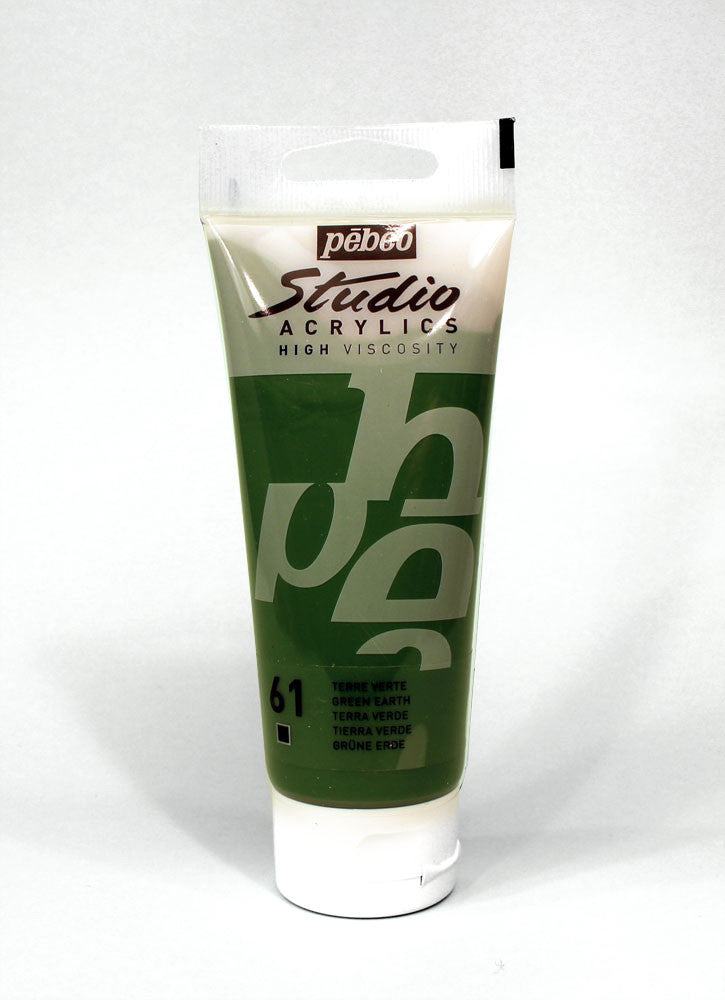 831061 GREEN EARTH 100ML ACRYLIC PAINT