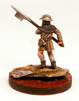 40mm Scale White Metal Medieval Billman-Pro-Painted-Ready to ship