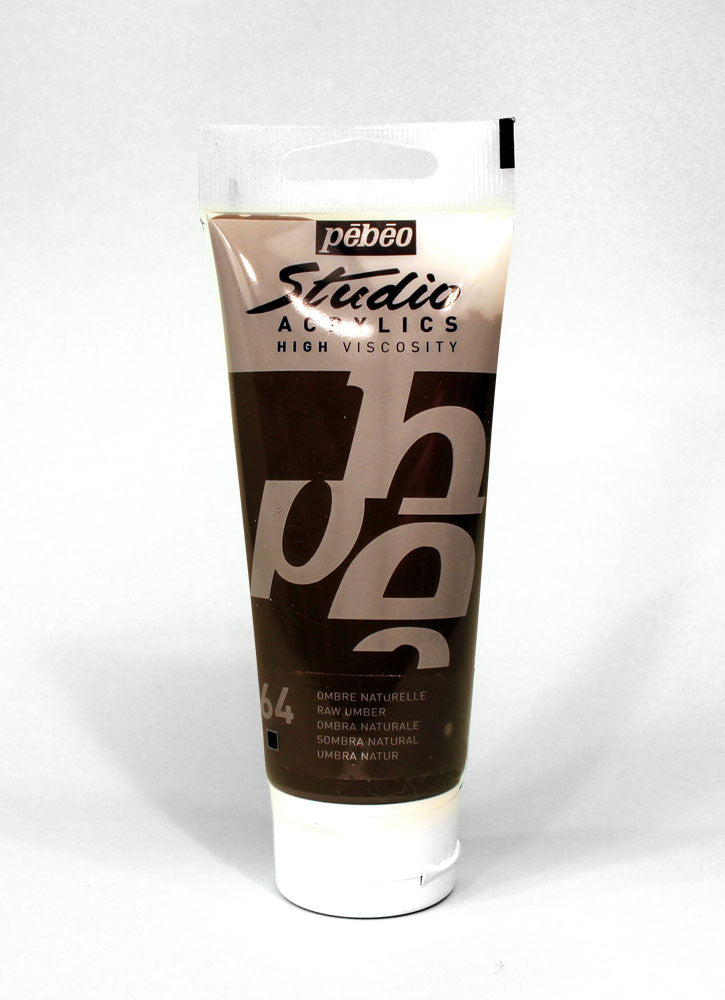 831064 RAW UMBER 100ML ACRYLIC PAINT