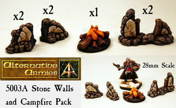 5003A Stone Walls and Campfire