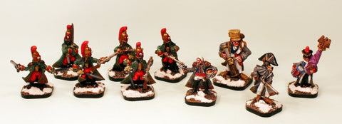 51041 2eme Regt de Ligne Command-Pro-Painted-4 Miniatures