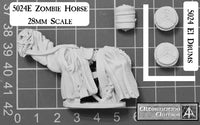 5024E Zombie Horse 28mm scale for most riders