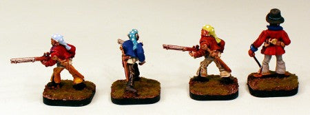 51001 Dark Elf Guerrillas-Pro-Painted Set of 4 Miniatures