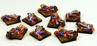 51030 Elf Casualties-9 Miniatures: Pro-Painted & Ready to Ship