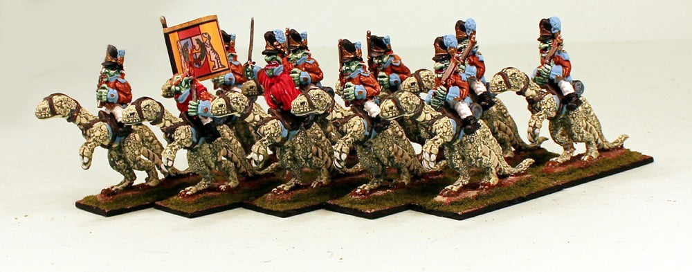 53501-U Goblin Heavy Cavalry on Big Lizards-Pro-Painted Set of 10 Goblin Cavalry: Ready to Ship