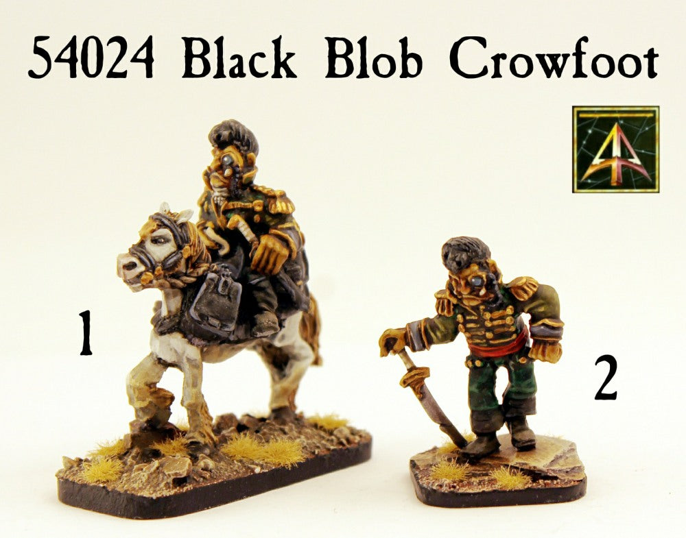 54024 Black Blob Crowfoot
