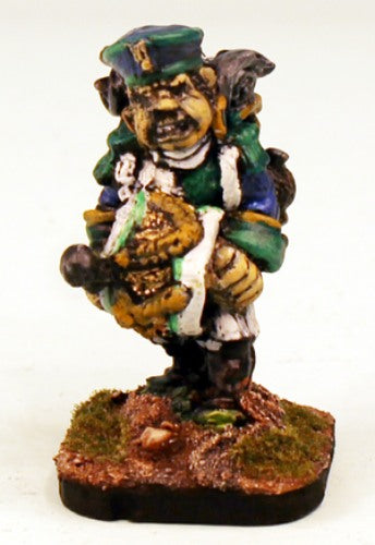 54507 Guinalean Legion (Ferach Empire)-Pro-Painted Bog Orc Drummer-Ready to Ship