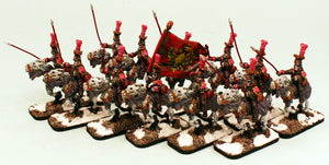 55502-U 1st Guard Liteupski Lancers Undead Cavalry Unit (12): Pro-Painted & Ready to Ship.