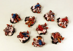 55507D Undead Casualties-9 Zombie Casualty Piles: Pro-Painted & Ready to Ship