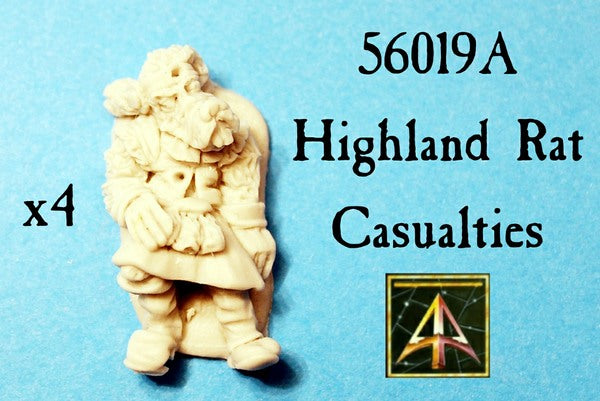 56019A Highland Rat Casualties now in resin with lower price!