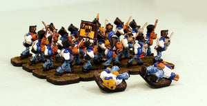 56506-U Dogman Line Infantry with 2 FREE Casualties-Blue Cuffs-Regiment 17-Pro-Painted Unit-Ready to Ship