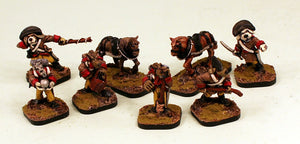 56512 Dogmen Artillery Crew & Limber Beasts (Brown Uniforms) Pro-Painted & Ready to Ship