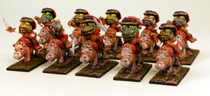 56528-U Todoroni Hussars-Pro-Painted Unit of 10 Toad Cavalry on Baby Hippos: Ready to Ship