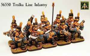 56550 Trolka Line Infantry in Resin
