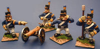 56580 Trolka Artillery Crew and Cannon in Resin