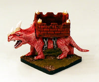 566 Rhinosaur with Howdah-15mm Pro-Painted Monster
