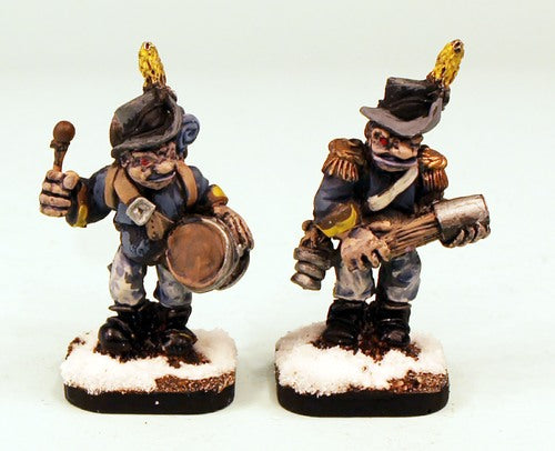 57029 Lergo Line Regiment-Pro-Painted Trolkin Officer and Drummer Ready to Ship