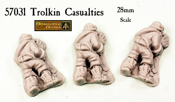 57031 Trolkin Casualties (3 pack) now in resin with reduced price