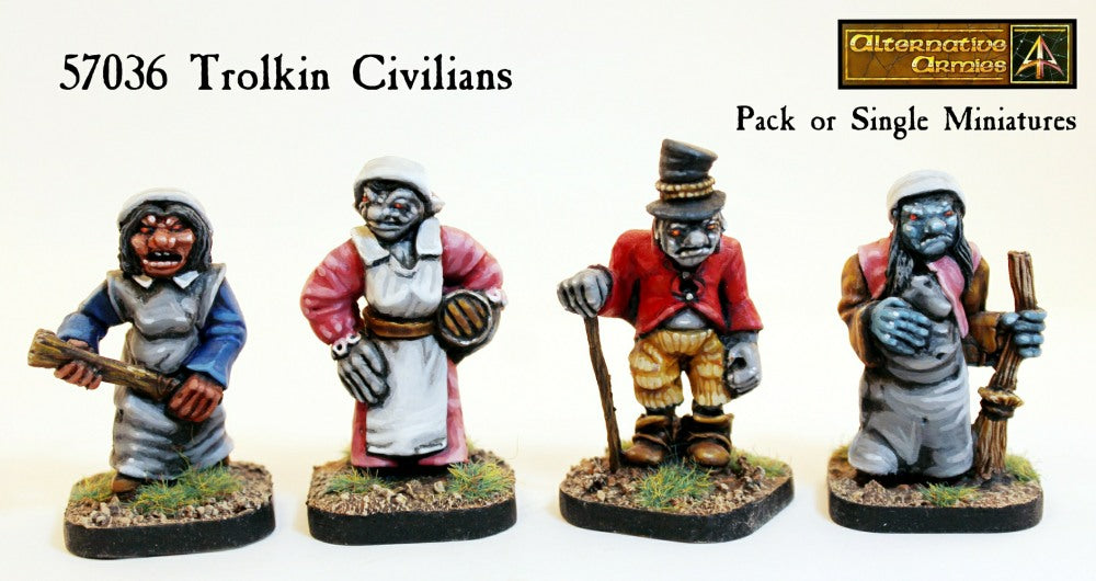 57036 Trolkin Civilians - Pack or Single Miniatures (Save 50%)