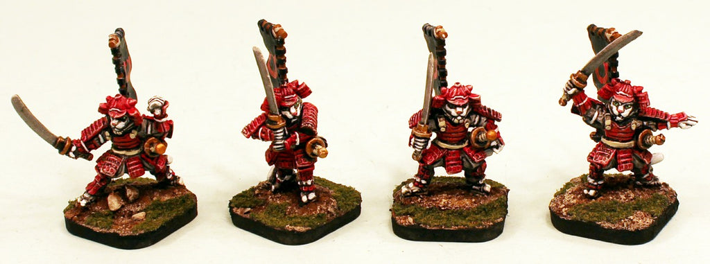 58012 Kitoka Samurai Katana: 4 Miniatures: Pro-Painted and Ready to Ship