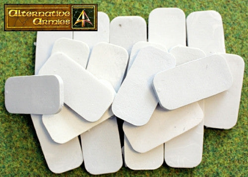 59023 25mm by 50mm Rectangle Resin Cartouche Bases