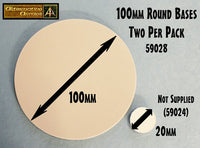 59028 100mm Round Resin Base (2 per pack)