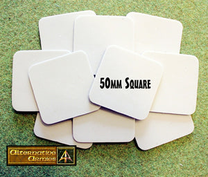 59029 50mm Square Resin Cartouche Bases (10)