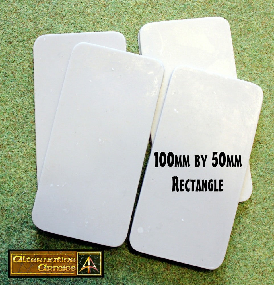 59030 100mm by 50mm Rectangle Resin Cartouche Bases (4)