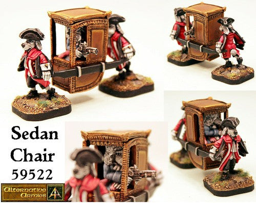 59522 Sedan Chair with Dogmen
