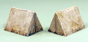59539 Closed Wedge Tents-Pack of 2 Tents-28mm Scale Pro-Painted Scenic Pieces: Ready to Ship