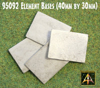95092 Metal Element Bases 40mm by 30mm (4)