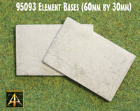 95093 Metal Element Bases 60mm by 30mm (2)