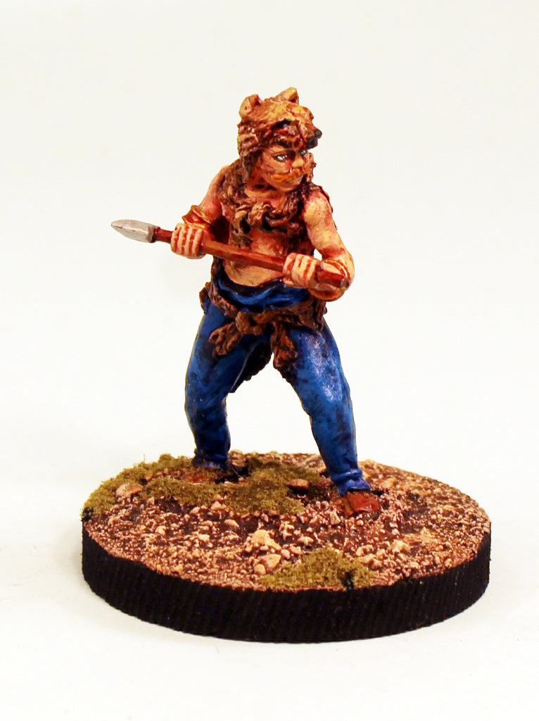 Alpha Miniatures 54mm Scale Germanic Veteran Warrior-Axe & Wolfskin -Pro-Painted-Ready to ship