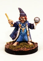 CA2-06 Halfling barefoot Wizard with Crystal Ball and Wand-Pro-Painted-Ready to Ship