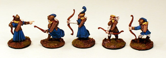 CE16 Crystal Empress Archers-Pro-painted-5 Miniatures