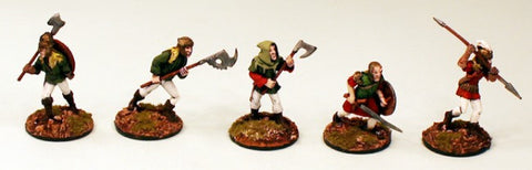 28mm Ganesha Games Dwarf Warriors 1-Pro-Painted 3 Miniatures